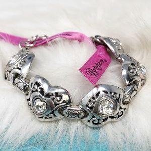 Brighton Divinity Heart Clear Swarovski Bracelet